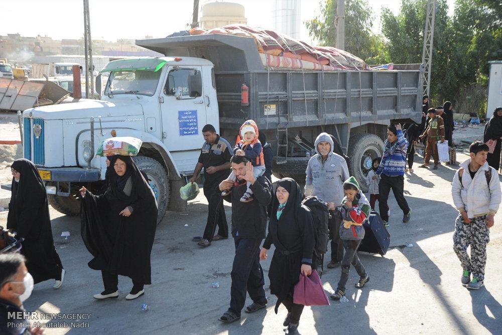 جمع آوری موکب ها و بازگشت زائران از کربلا / راهپیمایی اربعین ۵۷