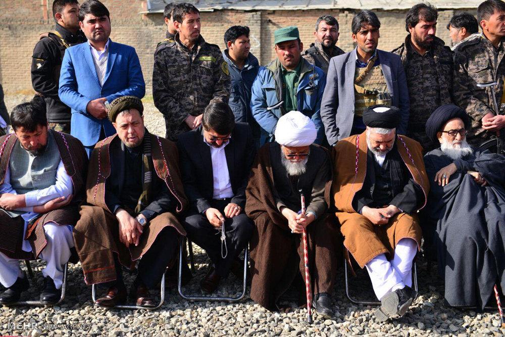 مراسم تشییع جنازه شهدای مسجد باقرالعلوم در مصلای شهید مزاری کابل