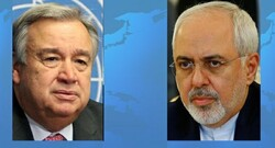 Zarif, UN chief