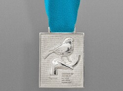 Parviz Tanavoli's medallion, which he is selling to help hospitals in Iran during the coronavirus pandemic.