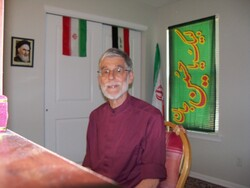 Journalist and senior editor Yuram Abdullah Weiler poses at his home in Las Cruces, New Mexico.