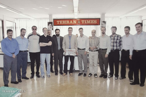Tehran Times newsroom and staff in different years