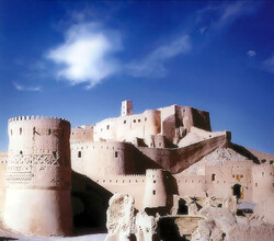 A view of the adobe Bam Citadel before the 2003 earthquake