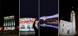 Iran, Lebanon, Palestine iconic sites lit white to honor medics fighting COVID-19