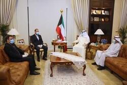 Kuwaiti Deputy Foreign Minister Khaled Al-Jarallah, Iranian ambassador