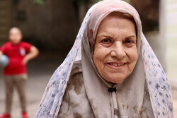 "Sediqeh Kianfar acts in a scene from director Hossein Qanaat's comedy film ""Pishi Mishi""."