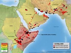 locust map