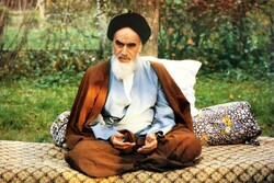 Founder of the Islamic Republic Imam Khomeini in an undated photo.