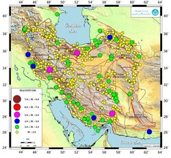 Some 1,000 earthquakes occur in Iran in a month