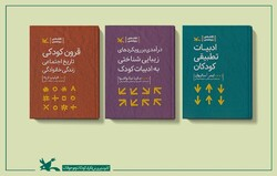 "This combination photo shows copies of the Persian version of ""Centuries of Childhood"", ""Aesthetic Approaches to Children's Literature"" and ""Comparative Children's Literature"" published by IIDCYA."