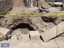 Qajar-era crypt unearthed while digging at house yard in northwest Iran