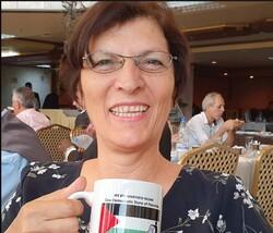 Amal Wahdan, a Palestinian activist