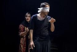 "Iranian-Georgian actress Diana Habibi (L) co-stars with Navid Mohammadzadeh in a scene from ""Night, Interior, Wall""."