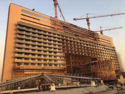 File photo depicts an elegant hotel under construction in Tehran.