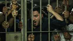 "Navid Mohammadzadeh acts in a scene from Saeid Rustai's drama ""Just 6.5""."