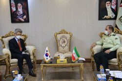 Director General of Interpol in Iran Hadi Shirzad and South Korean Ambassador to Tehran Ryu Jeong-Hyun