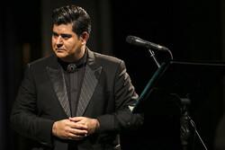 Vocalist Salar Aqili performs in an undated photo. (Mehr/Mohammad Moheimani)