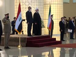 Iranian President Hassan Rouhani - Iraqi Prime Minister Mustafa al-Kadhimi