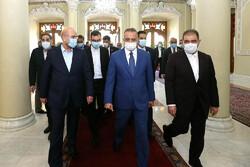 Iranian Parliament Speaker Mohammad Bagher Ghalibaf - Iraqi Prime Minister Mustafa al-Kadhimi