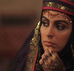 """Mahchehreh Khalili acts in a scene from the TV series """"Mokhtarnameh""""."""