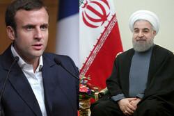 Hassan Rouhani, Emmanuel Macron
