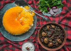 Persian cuisine: Khoresh-e Ghormeh Sabzi (Persian herb, bean and lamb stew)