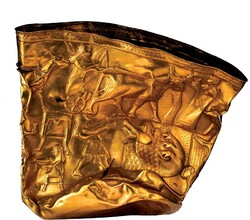 A view of the Gold Bowl of Hasanlu, ca. 900 BC