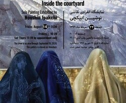 "* Nushin Ipakchi is displaying her latest collection named ""Inside the Courtyard"" in an exhibition at Shirin Gallery."