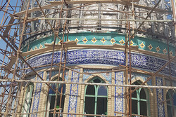 Sheikh Fazlollah Noori Mosque in Tehran being restored, reinforced