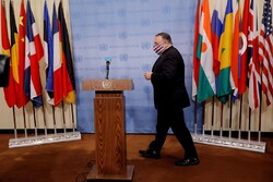 "U.S. Secretary of State Mike Pompeo during his trip to UN headquarters in New York on Thursday. He said he will submit a complaint to the UNSEC and has accused European allies of ""siding"" with Iran after they said the U.S. could not reimpose sanctions on Iran. (Photo: Mike Segar)"