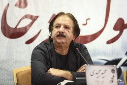 Director Majid Majidi attends a press conference at the Rahe Iman Charity Organization in Tehran on August 26, 2020 to brief the media about the Mourning at Home Short Film Festival. (Mehr/Shahabeddin
