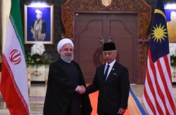 Rouhani meeting with Malaysian kingSultan Abdullah Sultan Ahmad Shah in December 2019 on the sidelines of Kuala Lumpur Summit