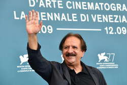 "Iranian director Majid Majidi attends a photocall for the film ""Sun Children"" during the 77th Venice Film Festival on the Italian Lido on September 6, 2020. (AFP/Tiziana Fabi)"