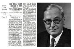 """""""New world order pledged to Jews"""" 80 years ago"""