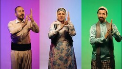"""A scene from the music video """"Invocation of the Deaf"""" with a poem by the Leader of the Islamic Revolution, Ayatollah Seyyed Ali Khamenei."""