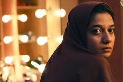 "Sadaf Asgari acts in a scene from ""Yalda: A Night for Forgiveness""."