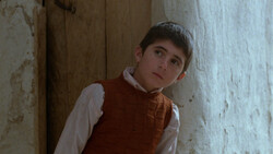 "Babak Ahmadpur in a scene from Iranian master Abbas Kiarostami's movie ""Where Is the Friend's Home?"""