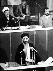 President Seyyed Ali Khamenei took the oath of office at the Iranian parliament on August 9, 1982.