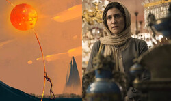 """A combination photo shows scenes from The Iranian movies """"The Badger"""" and """"The Rotation""""."""