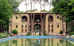 A view of the 17th-century Hasht Behesht palace and garden in Isfahan