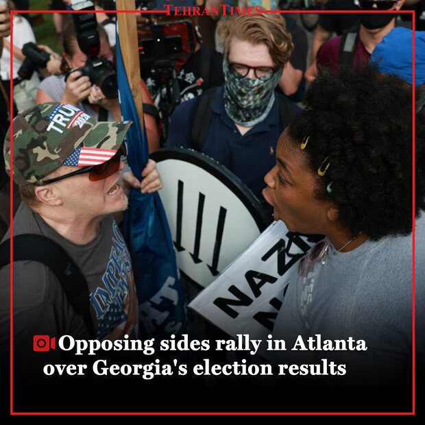Opposing sides rally in Atlanta over Georgia's election results