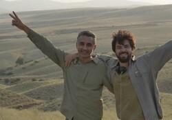 "Fathollah Amiri and Nima Askari, co-directors of ""Houbara"", in an undated photo."