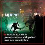 Paris in FLAMES: protesters clash with police over new security law