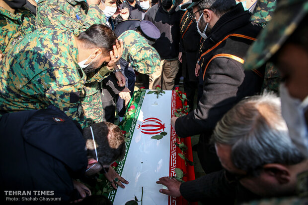 Martyred nuclear scientist Mohsen Fakhrizadeh laid to rest in Tehran mosque