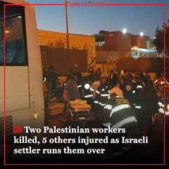 Two Palestinian workers killed, 5 others injured as Israeli settler runs them over