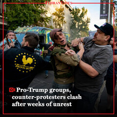 Pro-Trump groups, counter-protesters clash after weeks of unrest