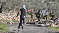 Palestinian protests in the West Bank against Zionist settlements
