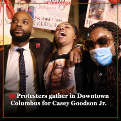 Protesters gather in Downtown Columbus for Casey Goodson Jr.