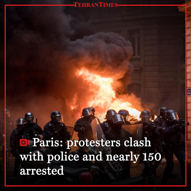 Paris: protesters clash with police and nearly 150 arrested