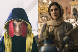 """A combination photo shows scenes from Iranian movies """"The Badger"""" and """"A Boy Has Disappeared""""."""